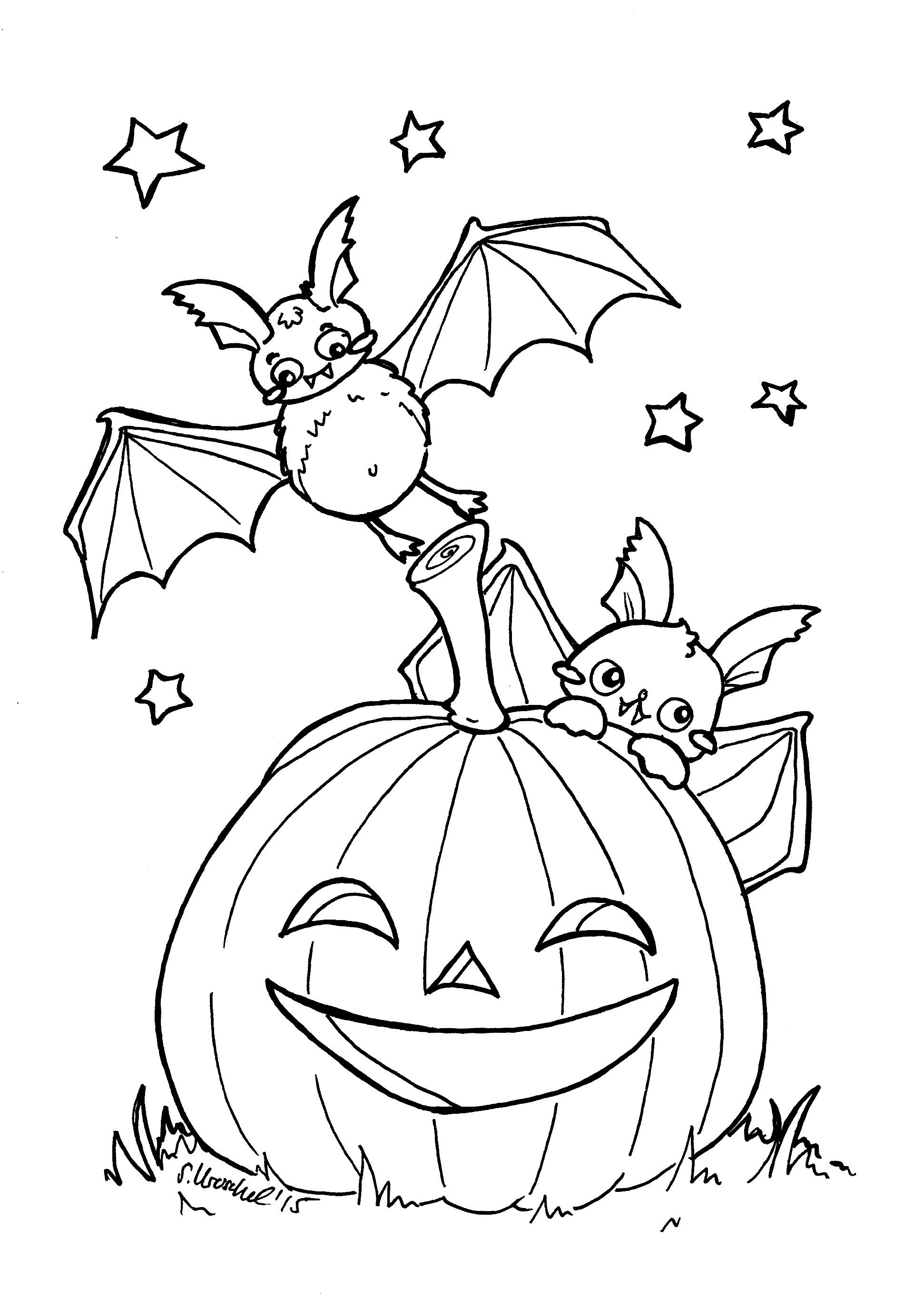 Ausmalbilder Für Halloween : Tolle Fledermaus Ausmalbilder Halloween Galerie Druckbare